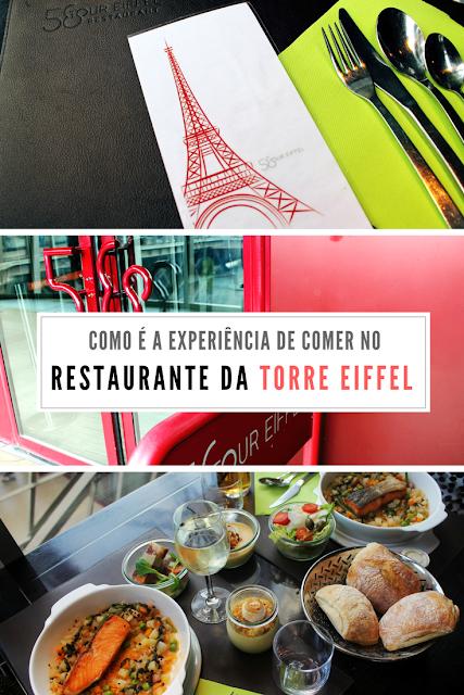 Como é a experiência de comer no restaurante 58 Tour Eiffel