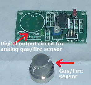 Gas or Fire sensor PCB board with digital output