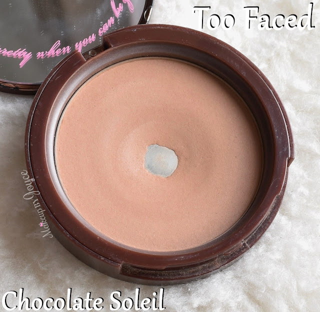 Too Faced Soleil Matte Bronzer in Chocolate Powder Review Swatches