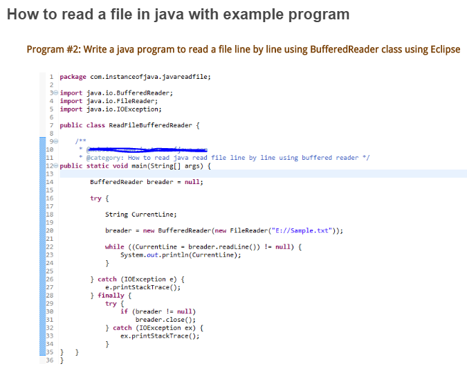 Selenium Webdriver With Java How To Read A File In Java With