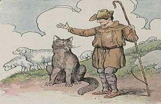 El lobo y el pastor