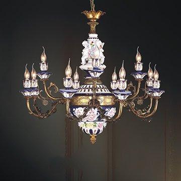 Mãn nhãn trước vẻ đẹp của những mẫu đèn chùm đồng đá cổ điển