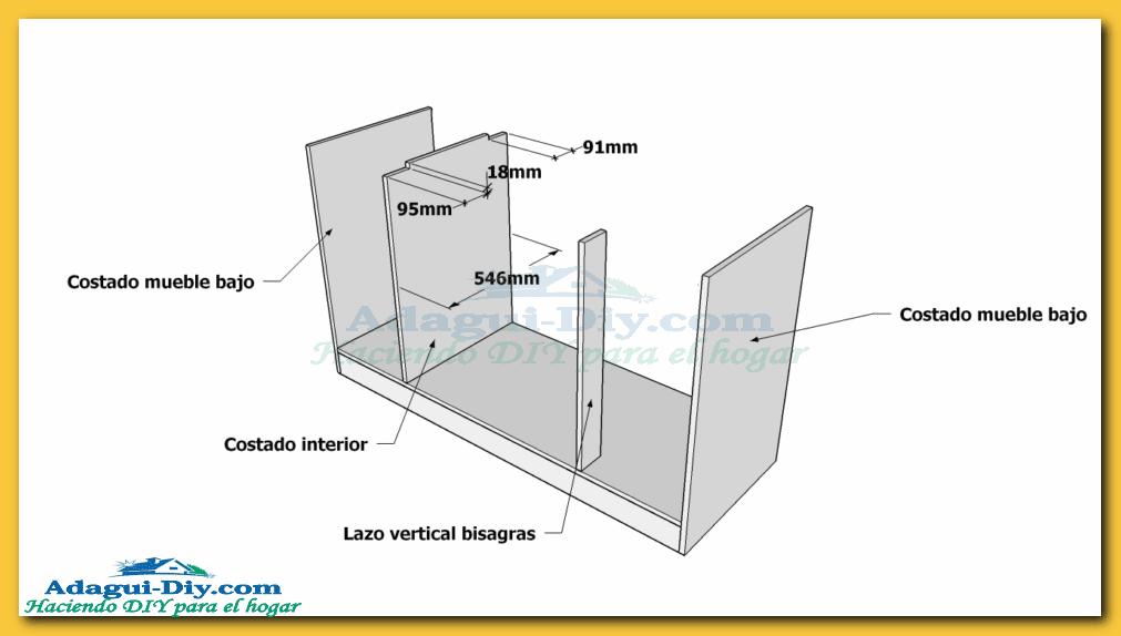 Como hacer muebles de cocina plano mueble bajo mesada de for Planos y diseno de muebles