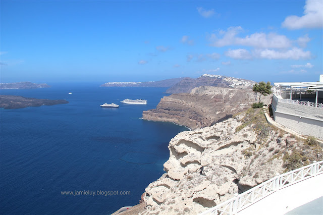 View from Santo Wines Winery, Santorini