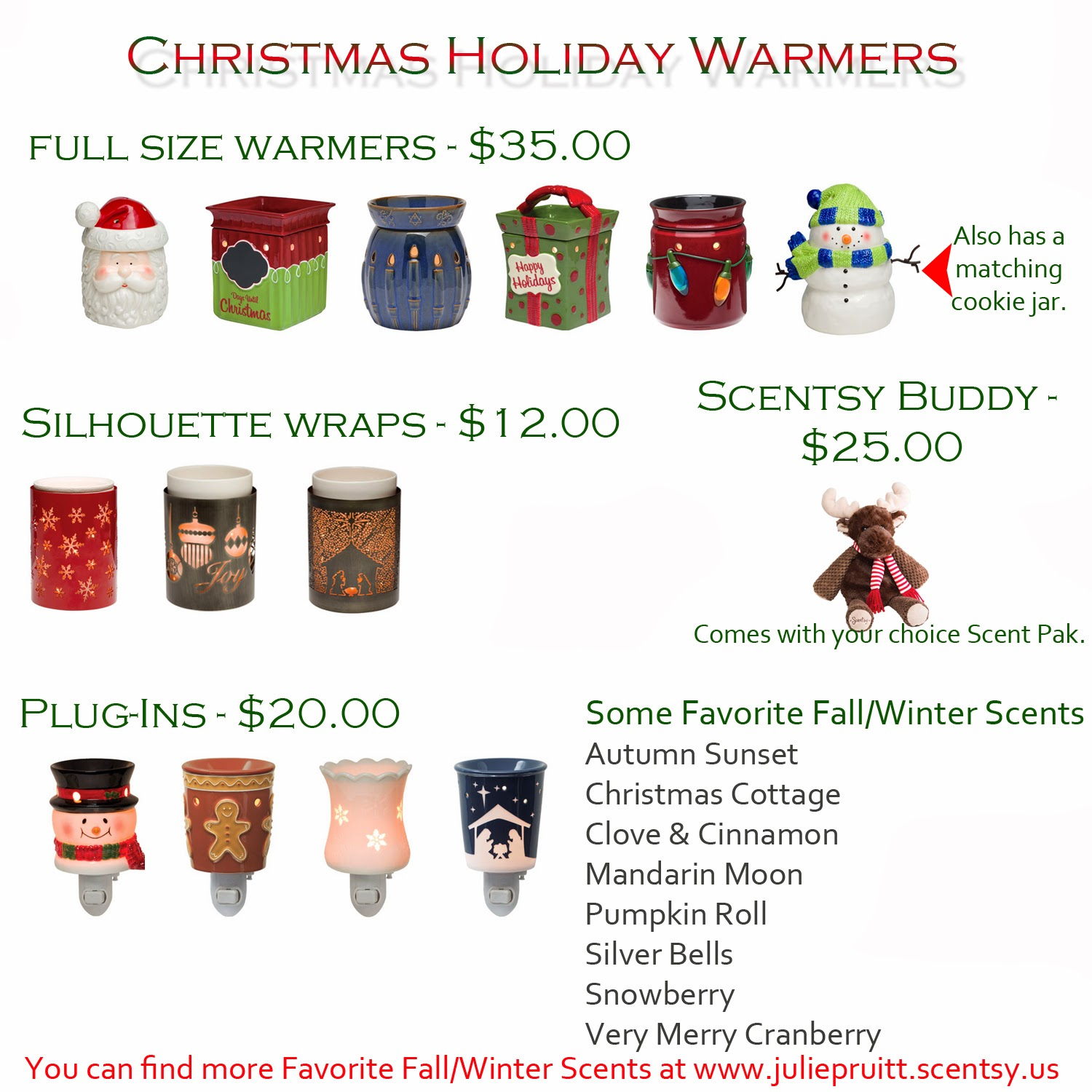 Scentsy Christmas Gifts.Julie S Scentsy