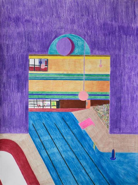 """Arte, dibujo por Ross Taylor, """"Concordia"""", 2017, pencil on paper."""