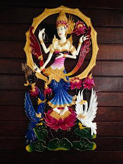Goddess Saraswati Relief Decoration