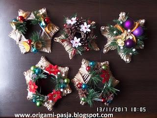 stroik na stół, wiklina papierowa, święta, boże narodzenie, złoty, srebrny, szyszka, dzwonek, bombka, gwiazda betlejemska, choinka,