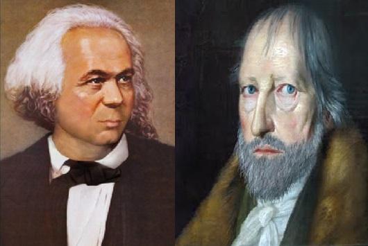 Hegel barbudo y Marx lampiño en la filosofía de 1968.