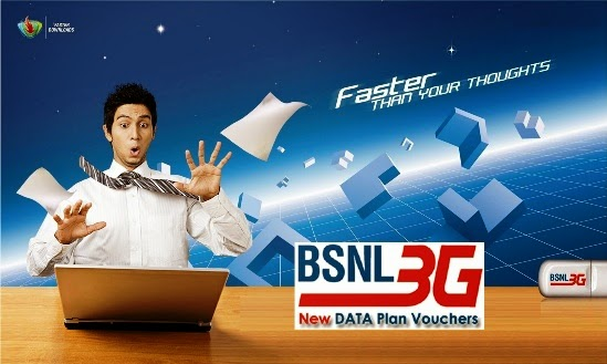 BSNL removes monthly usage limit of Annual 3G Data Plans; One Year Validity is available for the bundled data from 16th March 2016 on wards