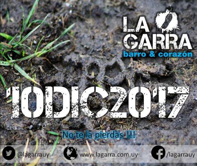 La Garra - carrera con obstáculos y mucho barro (Montevideo, 10/dic/2017)