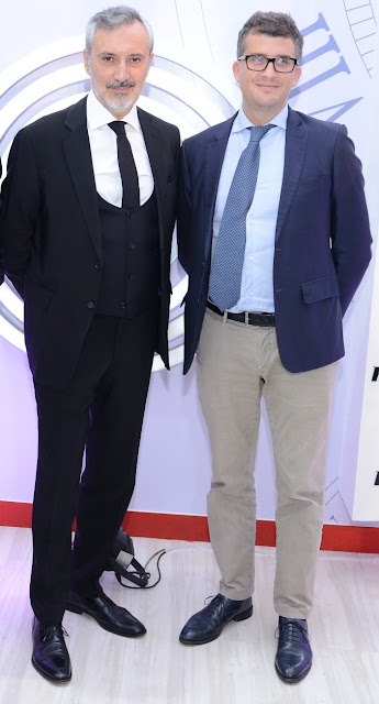 Lorenzo Angeloni (Ambassador of Italy to India),Tommaso Cancellara (Director General, ASSOCALZATURIFICI- Italian Footwear Manufacturers' Association)
