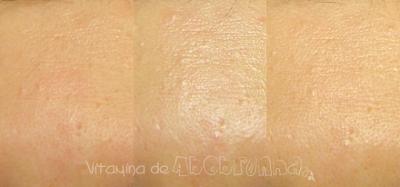 comparativo da pele com Bioré UV AQUA Rich Watery Essence SPF50+ PA++++