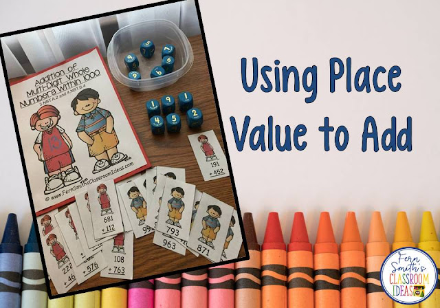 Tips, Tricks, Lesson Plans, Centers, Task Cards, Color By Numbers and Resources to Teach Using Place Value to Add to Your Class.