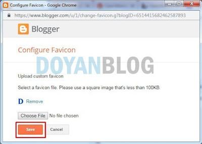setelah update lalu save logo favicon
