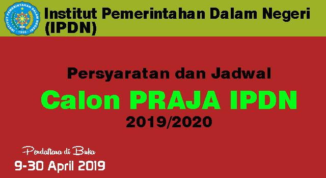 Pendaftaran Calon Praja IPDN 2020