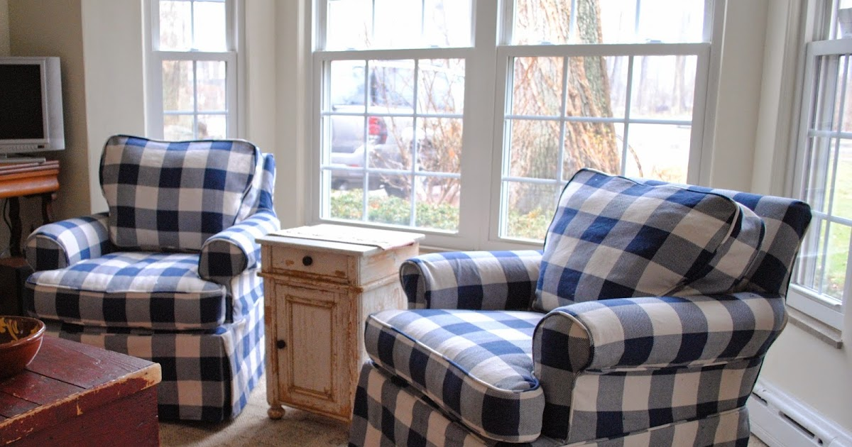Blue And White Dining Chair Slipcover