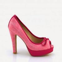Pantofi dama roz piele eco