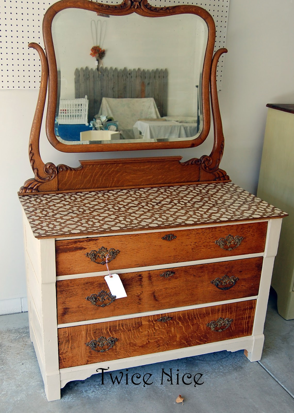 Twice Nice Two Tone Dresser Husker Chair  PRAIRIE MARKET