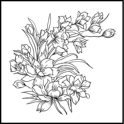 diagram of tiger lily craft 360 glass painting patterns #6
