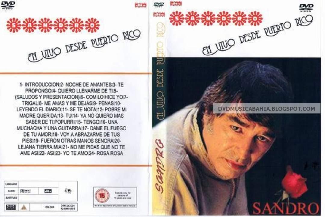 LOS MEJORES DVD DE MUSICA Y MAS    !!!!: SANDRO - EN VIVO