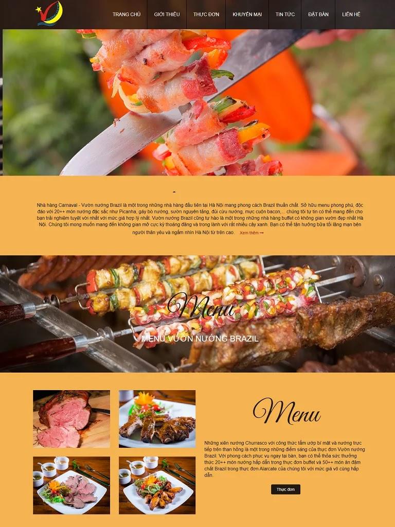 Template blogspot nhà hàng đồ nướng đẹp - Ảnh 1