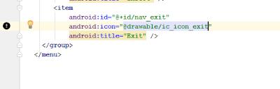 Menambahkan icon pada menu item