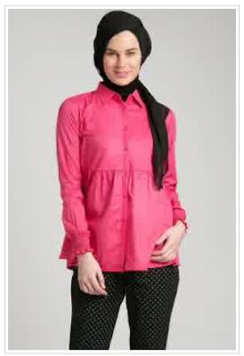Model Baju Kemeja Kerja Wanita Muslim Terbaru