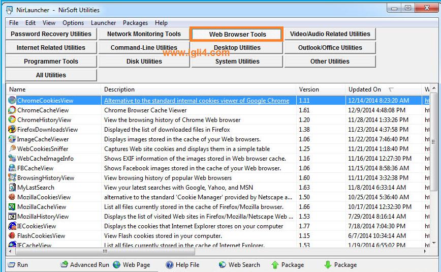 تصنيف Web Browser Tools