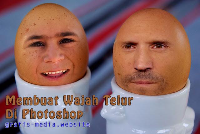 Pernahkah terbayangkan jika manusia berkepala telur Cara Edit Foto Lucu Kepala Telur Dengan Photoshop
