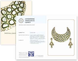IGI certifies traditional Jadau & Polki jewelry - Confluence of 'Regalia' & 'Assurance'