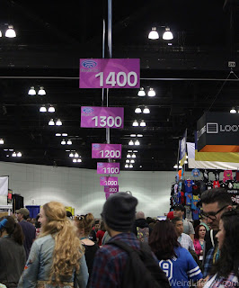 the crowds on the exhibition floor of the LA Convention Center
