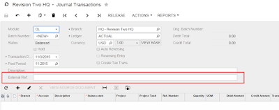 Acumatica Custom Fields