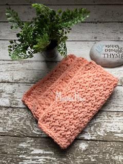 Peach Handmade Dish Cloths Washcloths