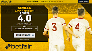 betfair supercuota 4 victoria de Sevilla a Maribor champions 26 Septiembre