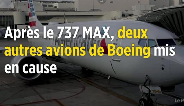 Après le 737 MAX, deux autres avions de Boeing mis en cause
