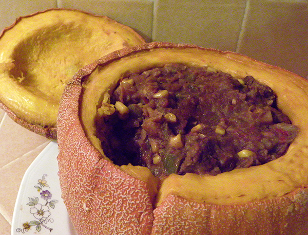 Winter Luxury Pumpkin filled with Stew