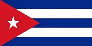 Dibujo de la bandera de Cuba a colores