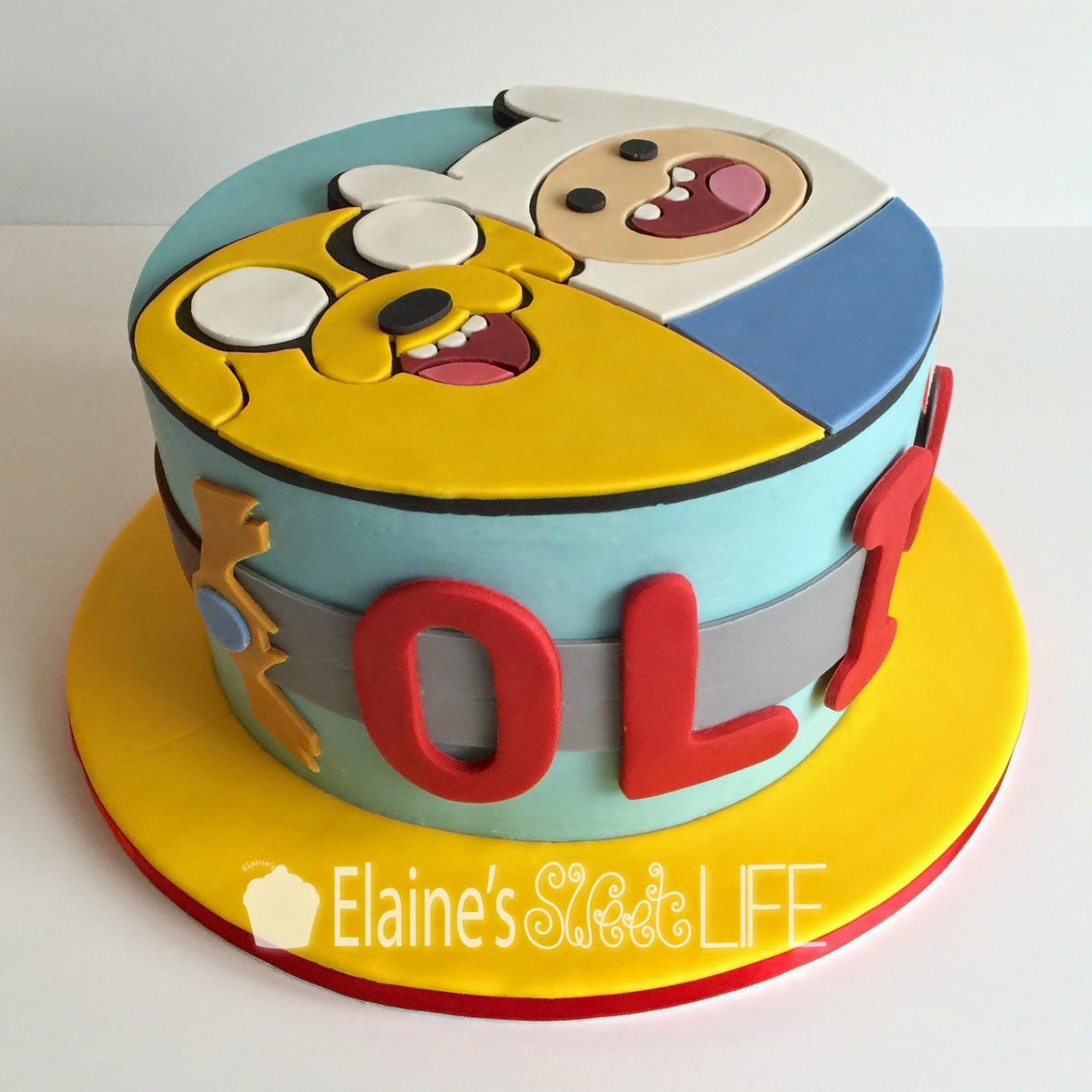 Elaines Sweet Life Adventure Time Cake