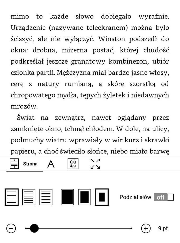 PocketBook Touch HD 3 – największa interlinia