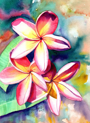 https://www.kauai-fine-art.com/listing/529340605/plumeria-watercolors-hawaiian-flowers