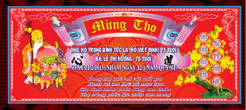 Vector Chúc Thọ.