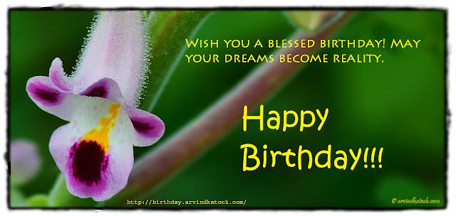 Birthday Card, Wild flower, Blessed, Dreams, Birthday, flower, dreams
