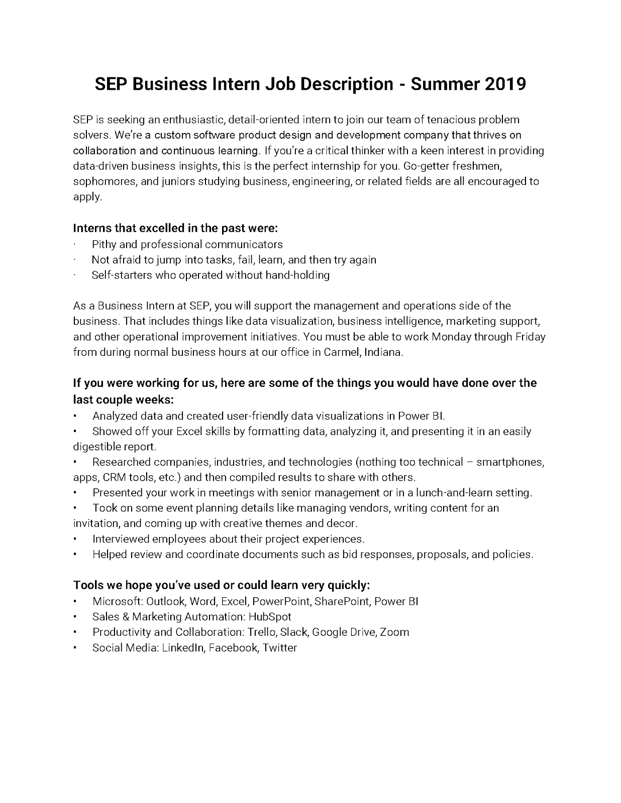Purdue Ie Undergrad News And Notes Business Internship Opportunity At Software Engineering Professionals Sep