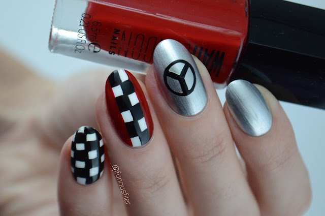 Checkered flag formula 1 f1 nails furious filer