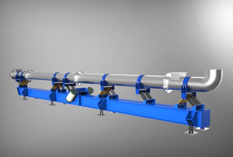 305  Tubular vibratory conveyor|| Tube, pipe || Free