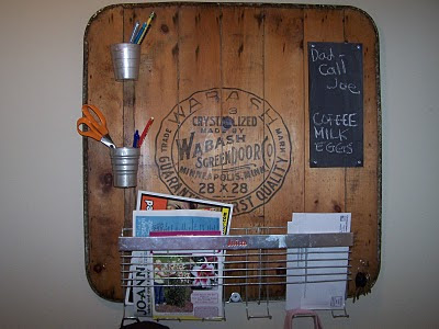 repurposed, message board, junk, http://bec4-beyondthepicketfence.blogspot.com/2016/03/repurposing-little-junk.html