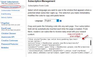 Subscription Management link