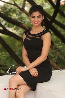 Actress Kamna Ranwat  Pictures in Black Short Dress at Selfie Raja Interview  0250.JPG