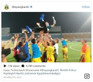 Juara Liga 1 2017 Diwarnai Kontroversi, Bhayangkara FC Dibully